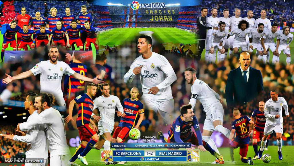 fc barcelona 1 v 2 real madrid cf la liga 2016 by jafarjeef