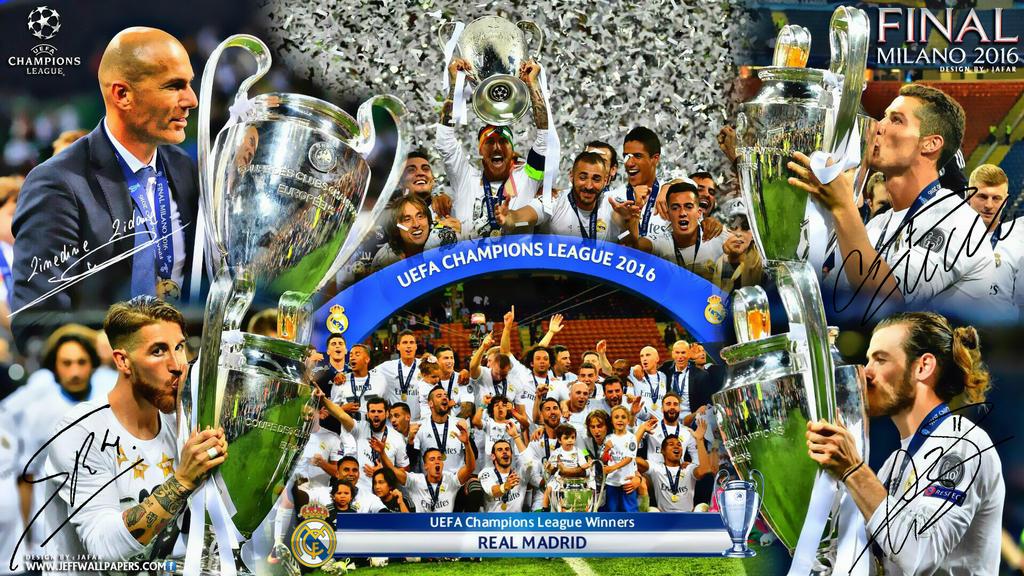 REAL MADRID CHAMPIONS LEAGUE WINNERS 2016 By Jafarjeef