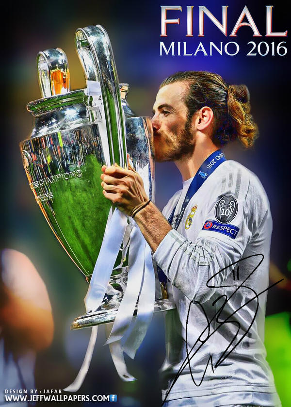 gareth bale champions league final 2016 by jafarjeef on deviantart. Black Bedroom Furniture Sets. Home Design Ideas