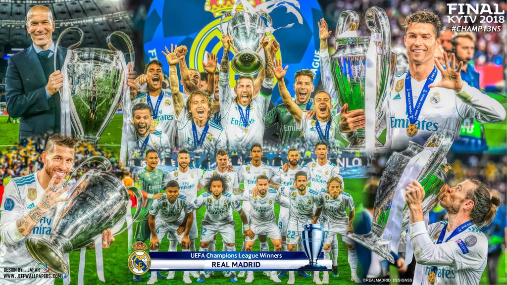 REAL MADRID CHAMPIONS LEAGUE WINNERS 2018 by jafarjeef on DeviantArt