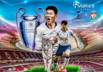 Son Heung Min Champions League Final Wallpaper by jafarjeef