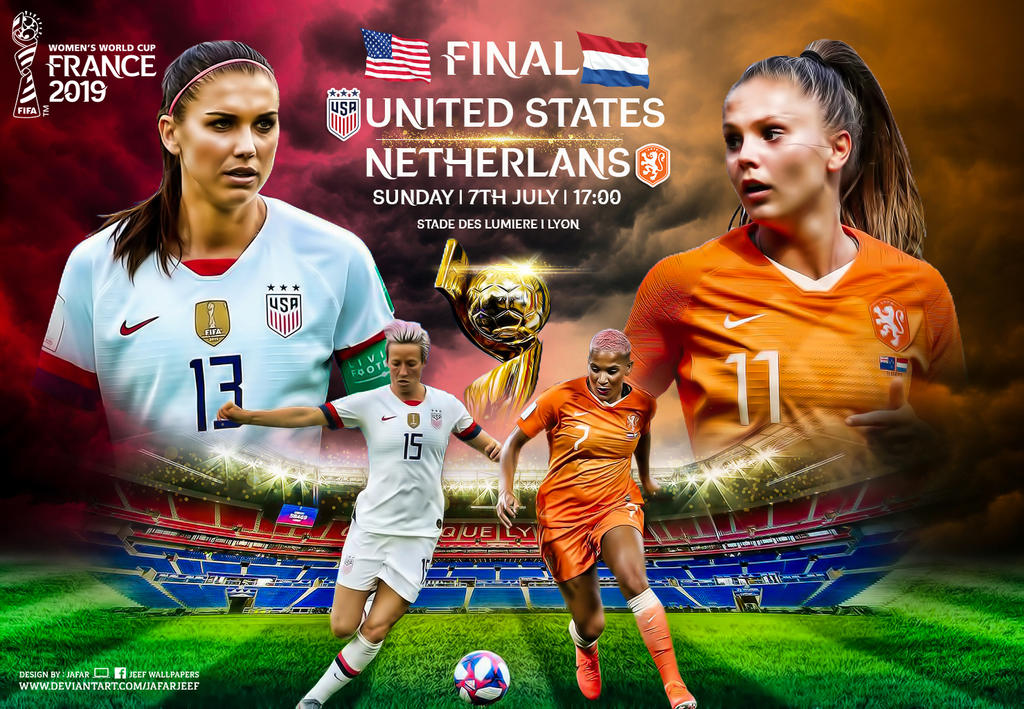 usa netehrlands fifa womens world cup final 2019 by jafarjeef