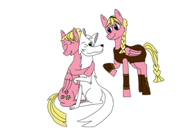 Brony meets DnD - Sweetie Bloom and Rose - COLORED by Wingsong5555