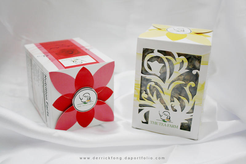 flower tea packaging design 2 by derrickfong