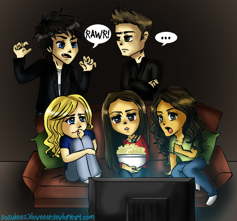 Vampire Diaries :: Movie Night by sasukee23loveeer