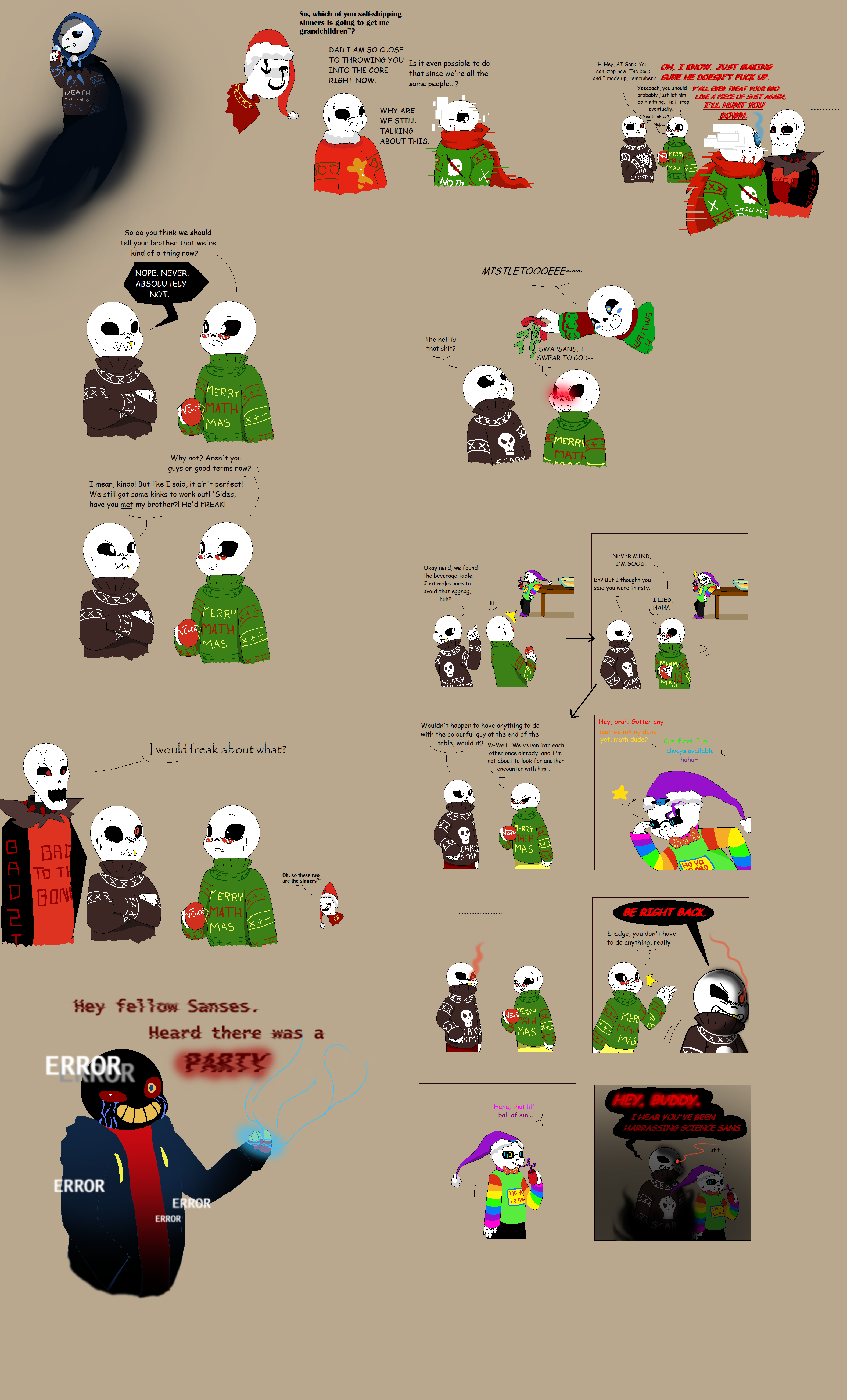 Christmas Party Au Comic.Christmas Party Au Doodles By Quilaviper On Deviantart