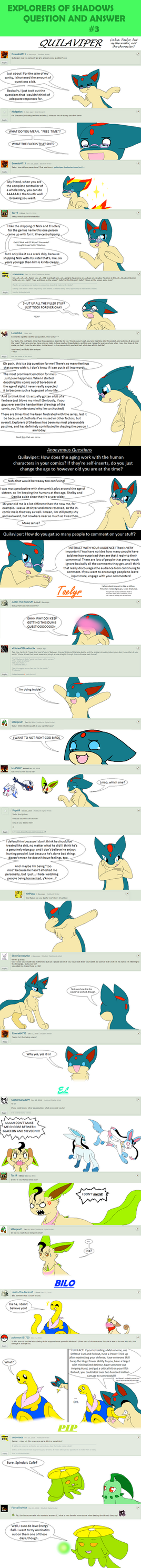Explorers of Shadows Q + A #3 (Part 1) by Quilaviper