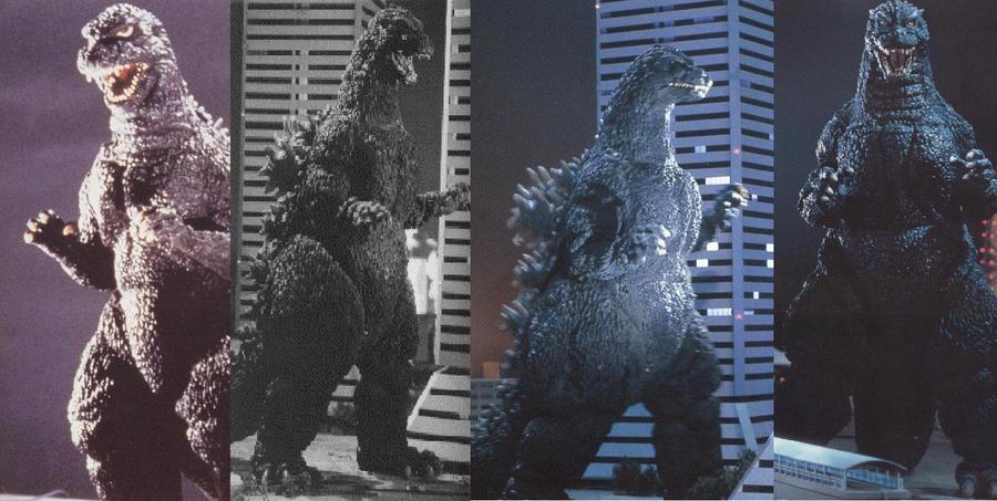 Godzilla 1984 - 1992 by RyugaSSJ3 on DeviantArt
