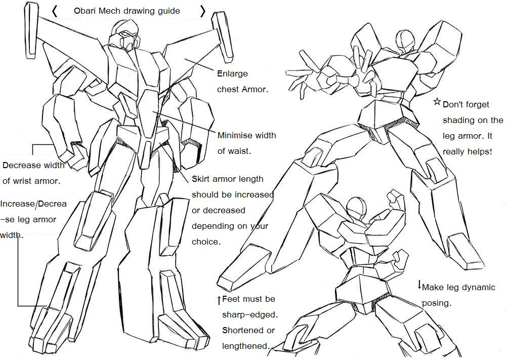 how to draw mecha pdf