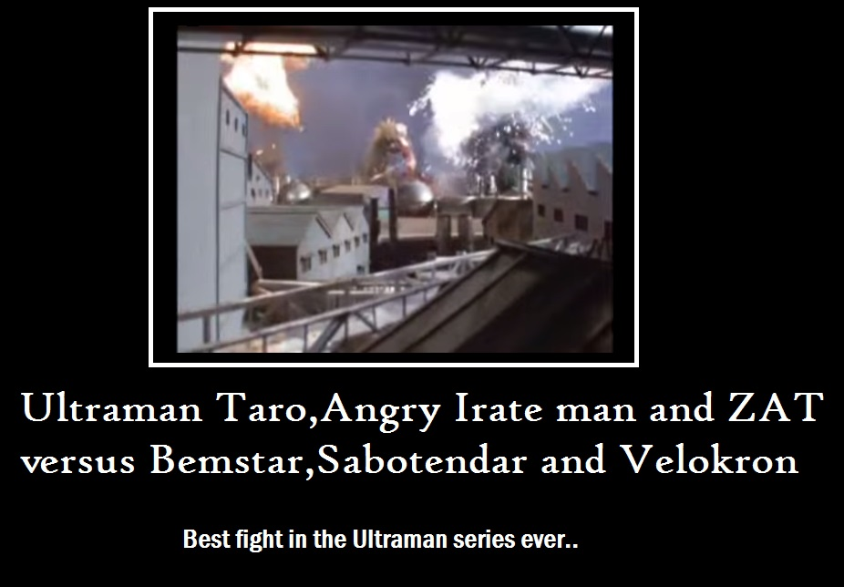 Best fight Ultraman Taro Mot. Poster by RyugaSSJ3