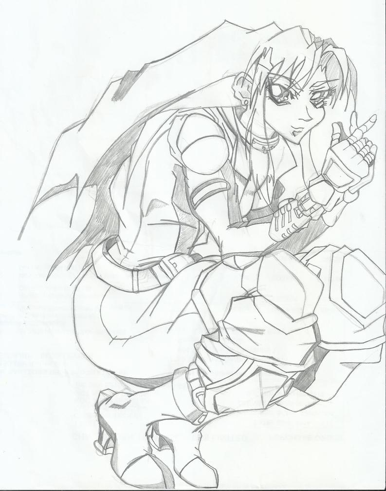Karen Kurezima - Original Character WIP by RyugaSSJ3