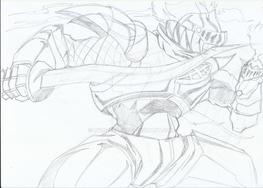 Armored fightingleaf Bari Style WIP by RyugaSSJ3