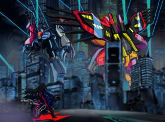 Destruction in Cosplay City by RyugaSSJ3