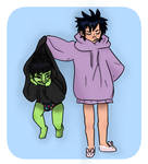 murdoc and noodz by NINTEND0GS