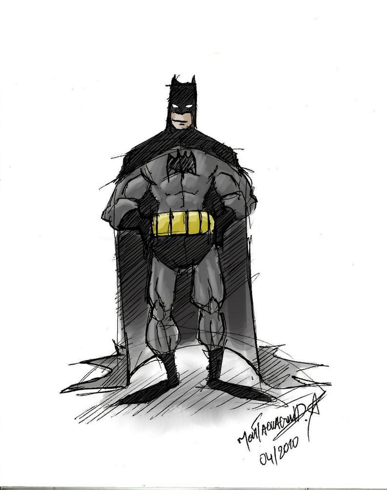 sketch batman by moutaouaguid on deviantART