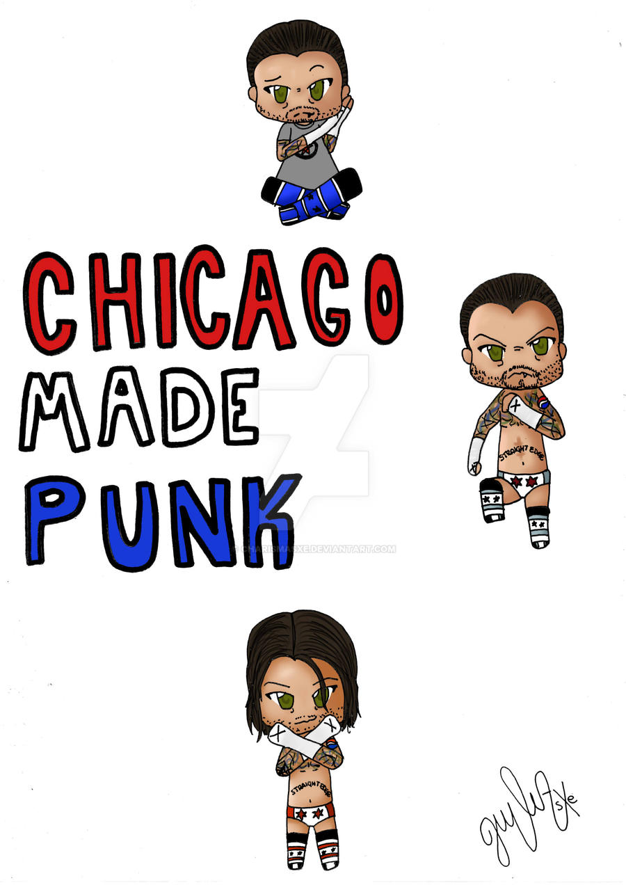 WWE Chibi CM Punk by CharismasXe