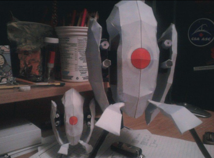 portal turret papercraft by QQ-Incorperated