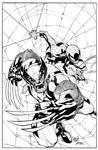 WOLVERINE/SPIDER-MAN CVR (ink sample)