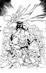 Thor Vs. Hulk - Inks over Mike Bowden