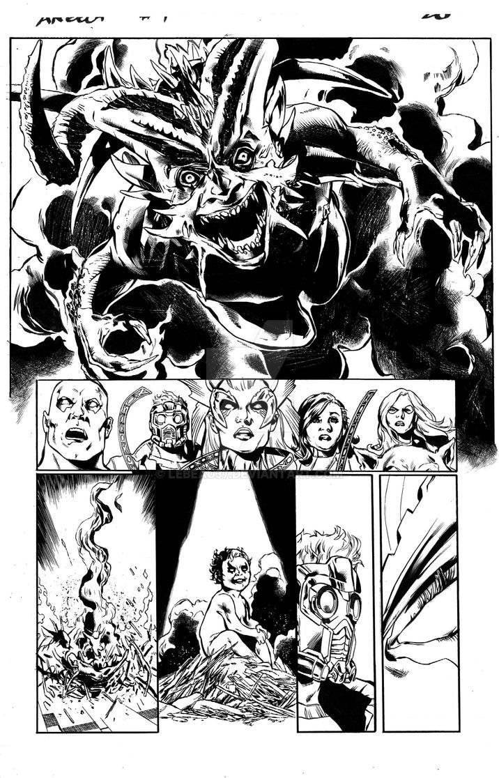 Angela: Asgard's Assassin #4, pg 20 inks by lebeau37