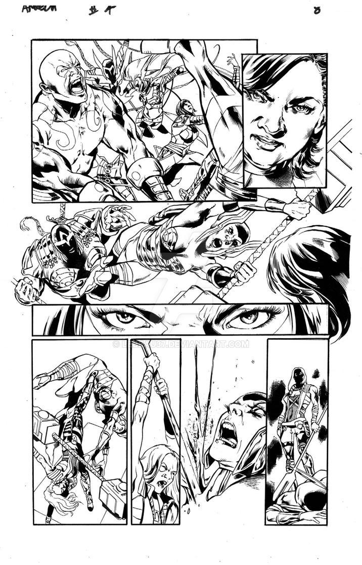 Angela: Asgard's Assassin #4, pg 8 ink by lebeau37