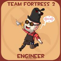 Team Fortress 2: Engineer And Cream Gravy by JoTheWeirdo