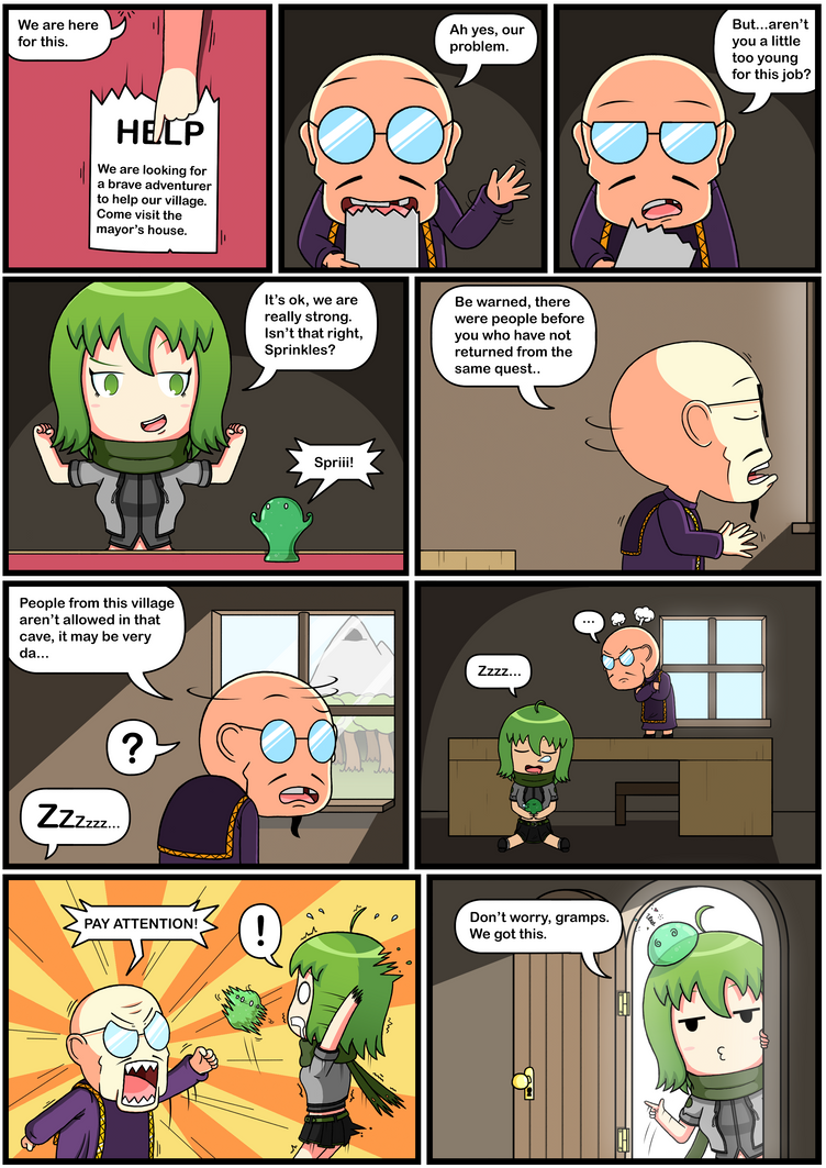 Yuuna The Adventurer (Page 3 full color) by JoTheWeirdo