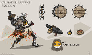 Overwatch Junkrat: Crusader Fan Skin by JoTheWeirdo