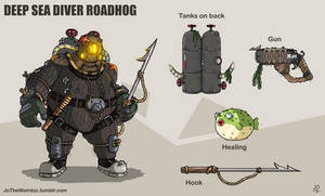 Overwatch fan skin: Deep Sea Diver Roadhog