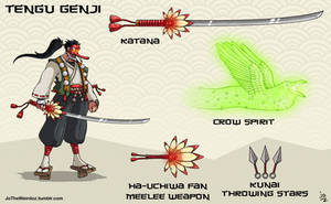 Overwatch fan skin: Tengu Genji by JoTheWeirdo