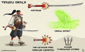 Overwatch fan skin: Tengu Genji