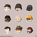 TF2 Cute Mercenary Sticker Set