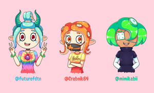 Splatoon 2 Fellow Octolings by JoTheWeirdo