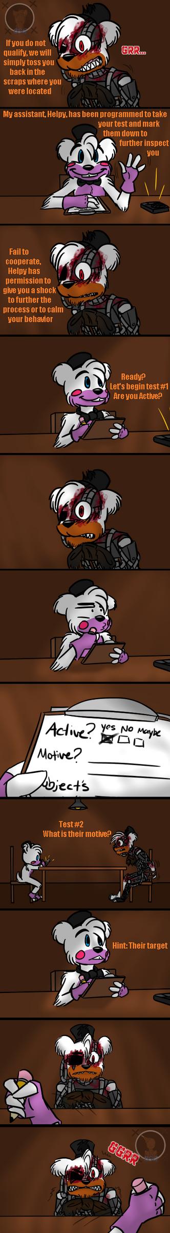 Interrogation (FNAF 6 Comic) Pt.2 by Blustreakgirl