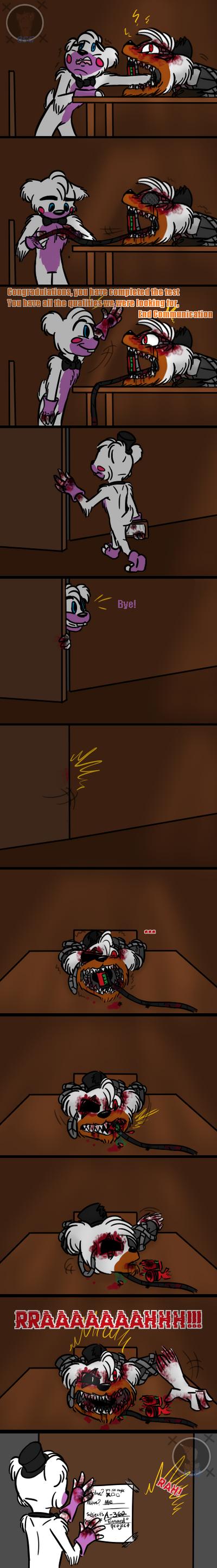 Interrogation (FNAF 6 Comic) Pt.4 by Blustreakgirl