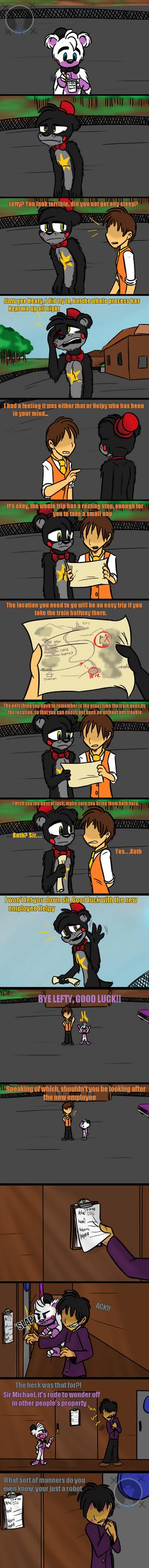 Humble Partner (FNAF 6 Comic) Pt.3 by Blustreakgirl
