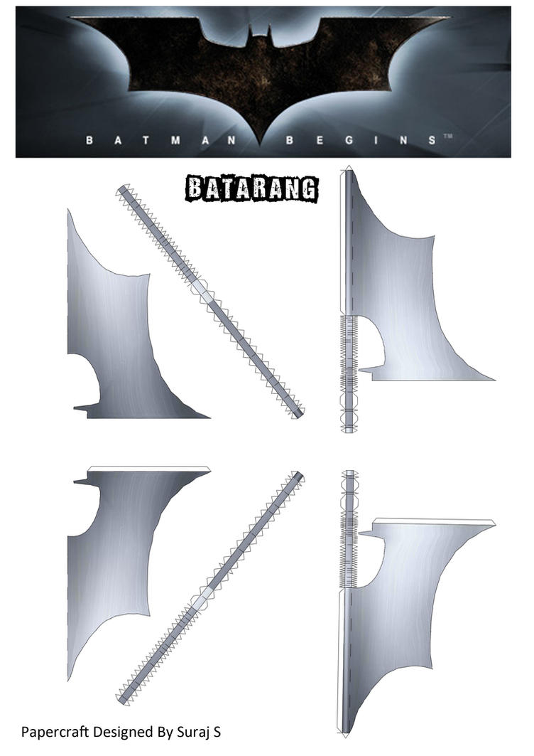 Batarang - Batman Begins Papercraft by suraj281191
