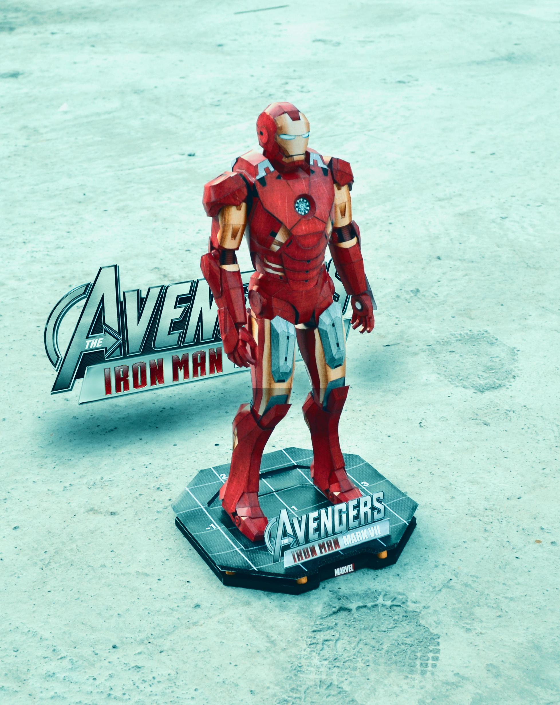 Iron Man Papercraft by suraj281191