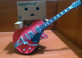 Danbo Guitar Papercraft by suraj281191