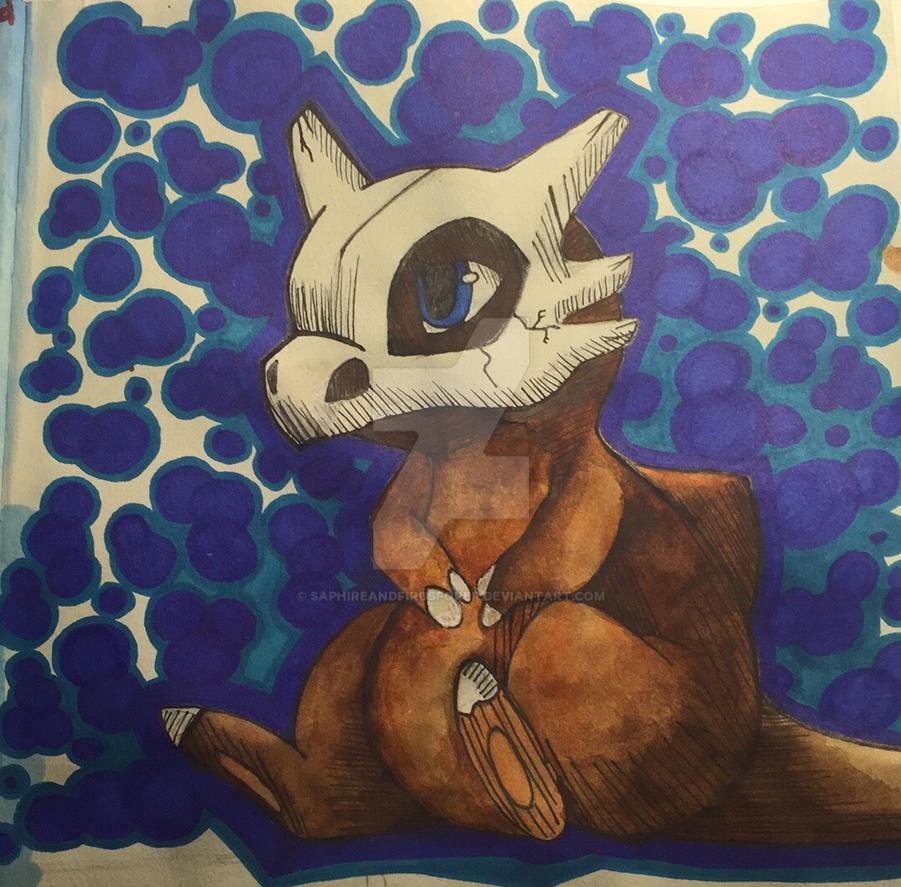 Cubone by Saphireandfirusforer