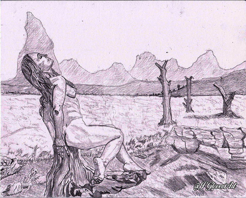 The Offering - Preliminary Sketch by JGloverArt