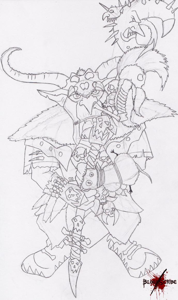 warhammer goblin shaman by blo0dscribe on deviantart