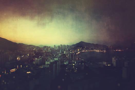Watching the city fall asleep