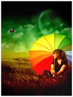 Rainbow Umbrella by Emindeath