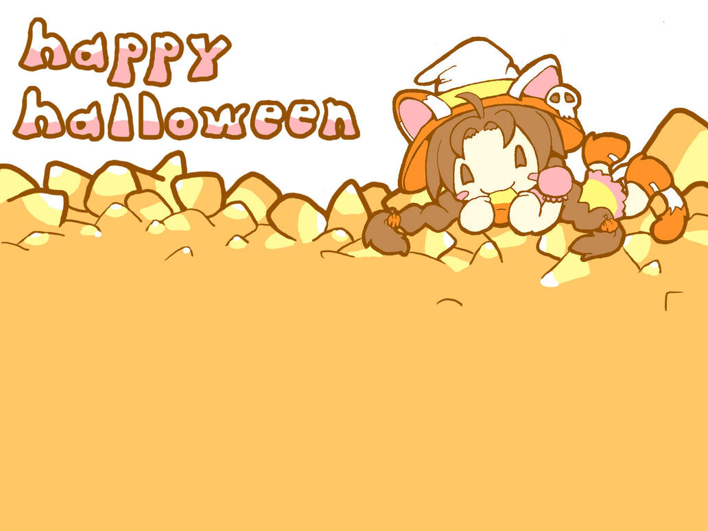 halloween candy corn WP by mandichan