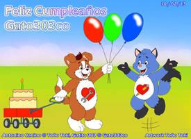Happy Birthday Gato303co!!!! by AntoninoCanino124