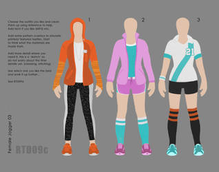 Character design costume (paper doll) RTD09c by IRealTidyDesignI