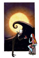 Valentines in Halloween Town by YaneYing