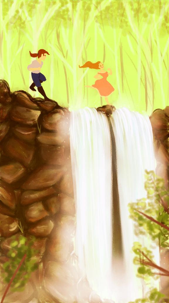 Waterfall Run by YaneYing