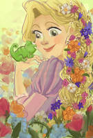 Rapunzel in Bloom by YaneYing